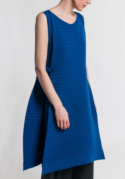 Issey Miyake Tribal Pleat Dress in Blue