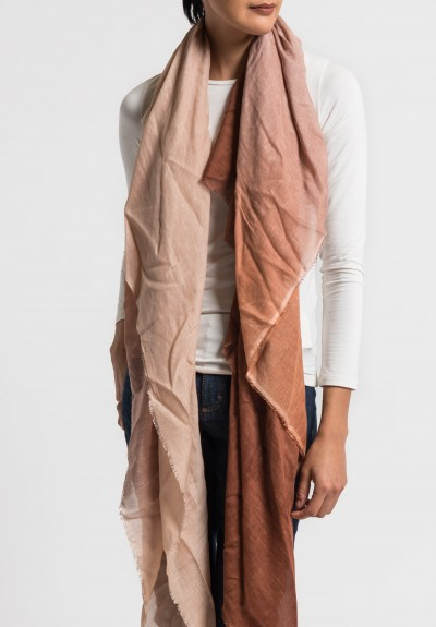 Faliero Sarti Sfumatello Ombre Scarf in Brown