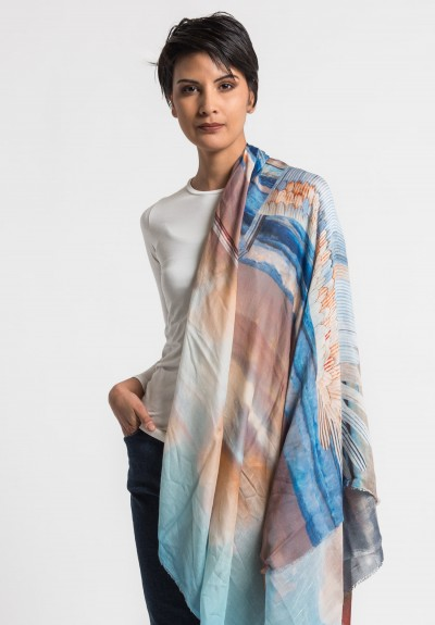 Faliero Sarti Modal/Silk Ocean Sunset Scarf in Multi