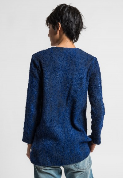 Avant Toi Linen/Cotton Boucle Collarless Jacket in China