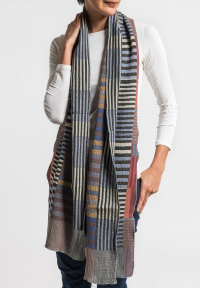 Nuno Wool Color Plates Half-Size Scarf in Multi