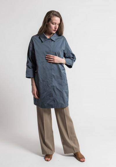 Pauw Point Collar Relaxed Jacket in Slate