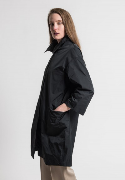 Pauw Point Collar Relaxed Jacket in Black