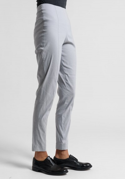 Peter O. Mahler Fitted Stretch Linen Pants in Metal