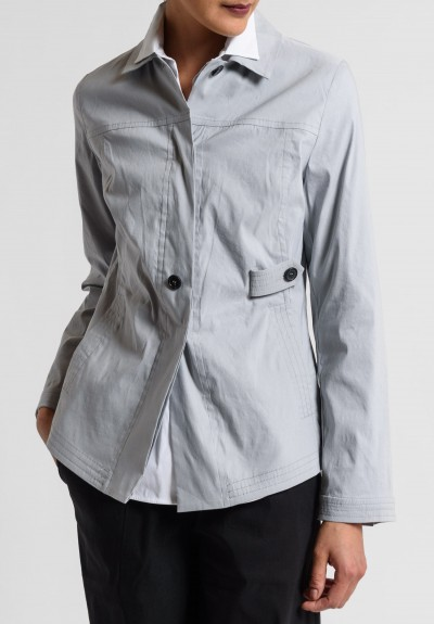 Peter O. Mahler Stretch Linen Placket Jacket in Metal