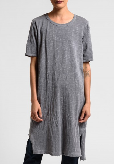 Wilt Elbow Sleeve Cut Out Hem Tunic Dress in Volcano