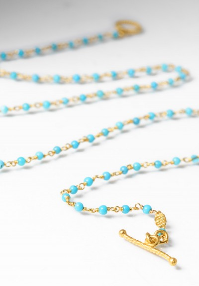Kimarie Designs 18k Gold & Turquoise Necklace