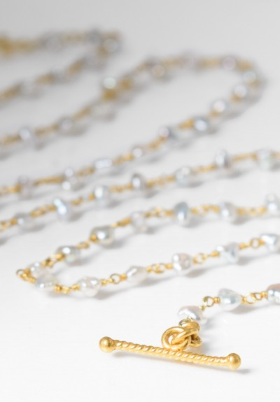Kimarie Designs 18k Gold & Akoya Pearl Necklace