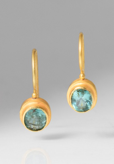 Kimarie Designs 18k Gold & Tourmaline Earrings