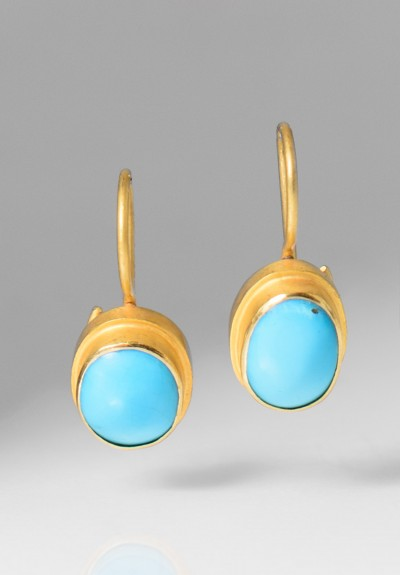 Kimarie Designs 18k Gold & Turquoise Earrings