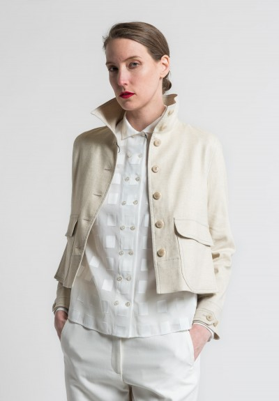 Akris Paillette Illicio Short Jacket in Beis