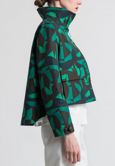Akris Cotton Geometric Print Isidor Jacket in Multicolor