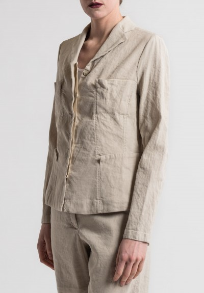 Annette Görtz Stretch Linen/Cotton Toka Jacket in Gobi