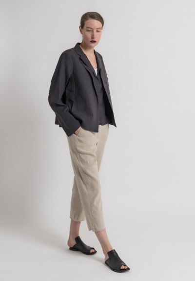Annette Görtz Stretch Linen/Cotton Togo Cropped Pants in Gobi