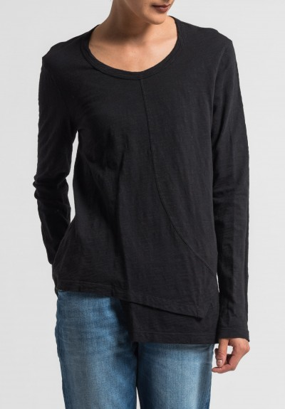 Wilt Shift Front Long Sleeve Tee in Black