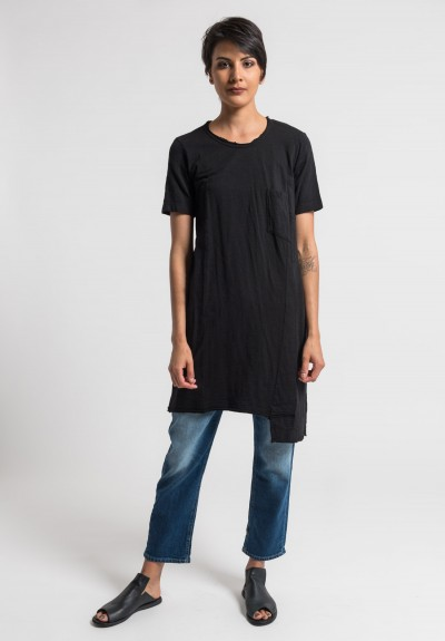 Wilt Shifted Pocket Tee Tunic in Black