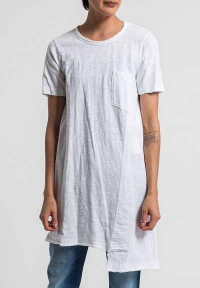 Wilt Shifted Pocket Tee Tunic in White