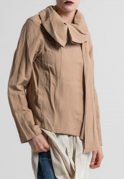 Nicholas K Linen/Cotton Short Duster Jacket in Dusk