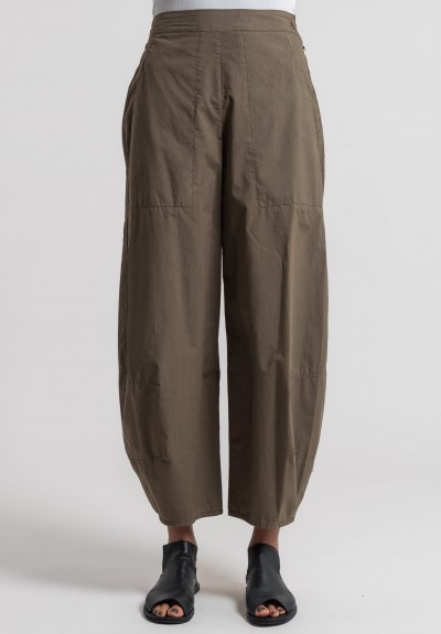 Oska Cotton Tove Pants in Soil