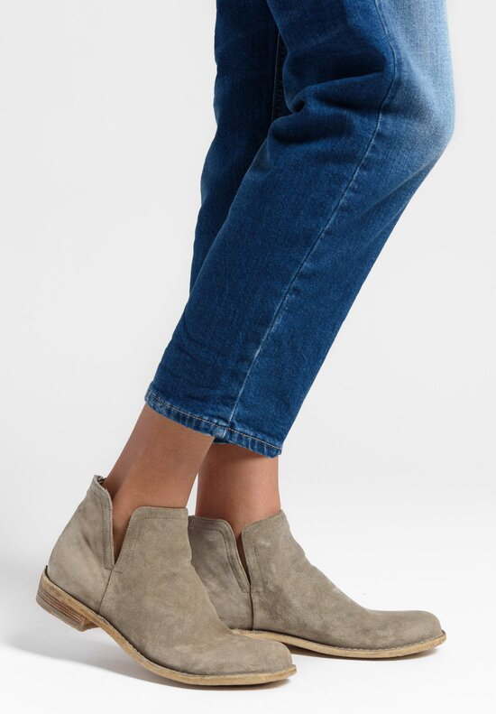 Officine Creative Suede Legrand Ankle Boot in Softy Ardesia