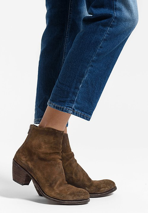 Officine Creative Godard Suede Bootie in Light Sigaro