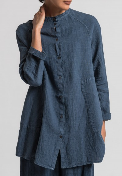 Oska Linen Tia Tunic in Denim