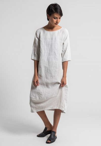 Oska Linen Tuyet Dress in Page