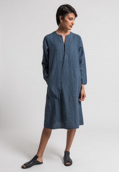 Oska Linen Taja Dress in Demin