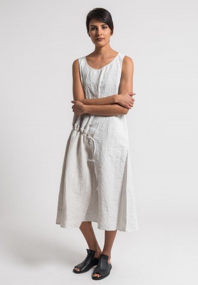 Oska Linen Sleeveless Tanja Dress in Page