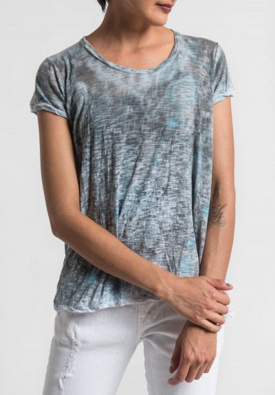 Gilda Midani Pattern Dyed Short Sleeve Monoprix Tee in Monsoon
