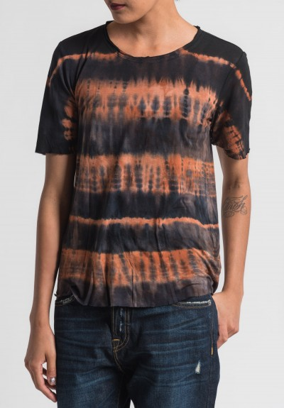 Raquel Allegra Lightweight Tee in Black Orange