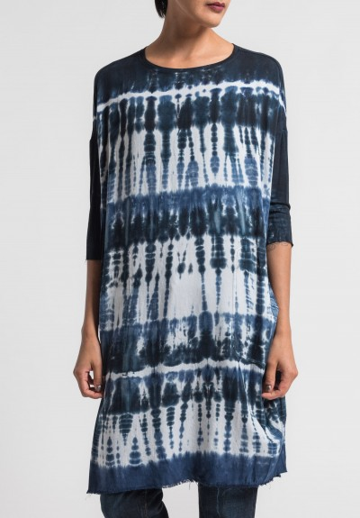 Raquel Allegra Oversized Tunic Dress in Navy