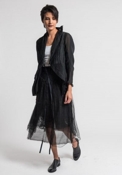 Marc Le Bihan Layered Tulle Skirt in Black