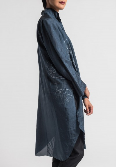 Jaga/Duuay Hand Painted Long Tunic in Navy