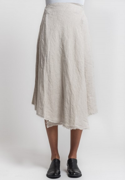 Marc Le Bihan Linen Wrap Skirt in Natural