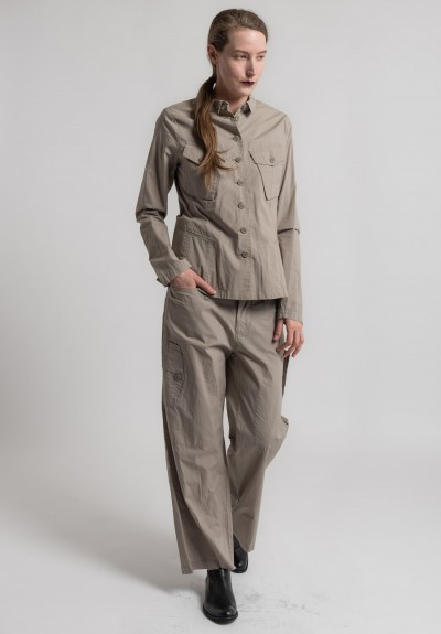 Rundholz Cotton Safari Pocket Blazer in Desert