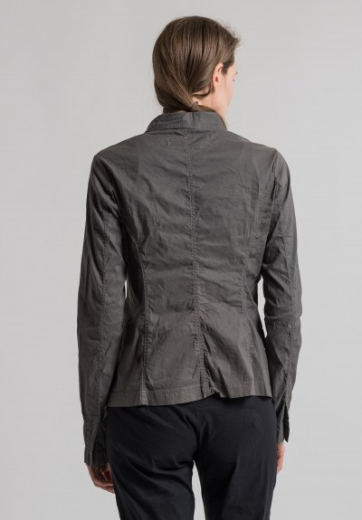 Rundholz Dip Stretch Linen Cotton Jacket in Moon Blank