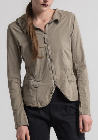 Rundholz Dip Cotton Front and Back Zipper Jacket in Desert