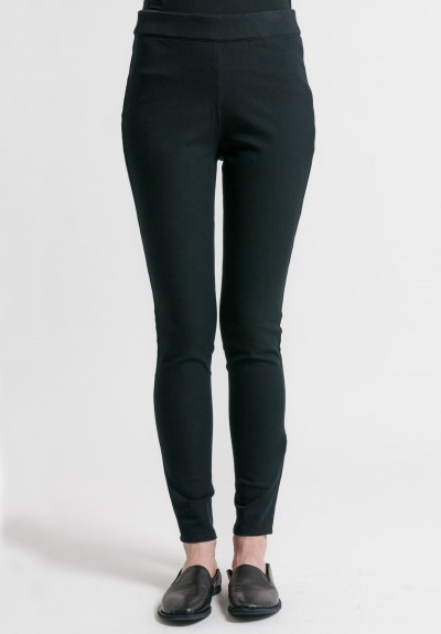 Arjé Stretch Cotton Second Skin Pants in Black