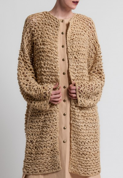 Ralph Lauren Silk Crocheted Cardigan in Rope