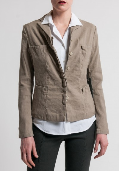 Annette Görtz Stretch Linen/Cotton Toka Jacket in Sand