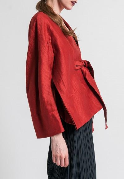 Urban Zen Kimono Jacket in Brick Red