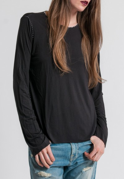 Made On Grand Modal Hand Stitched Top in Black