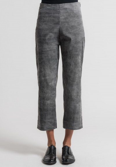 Peter O. Mahler Cold Dyed Stretch Linen Pants in Grey