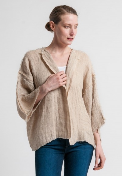 Shi Linen Short jacket in Natural