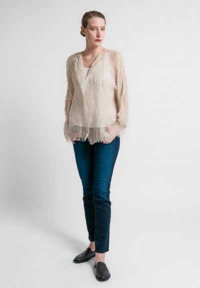 Shi Loose Weave Short Jacket in Natural