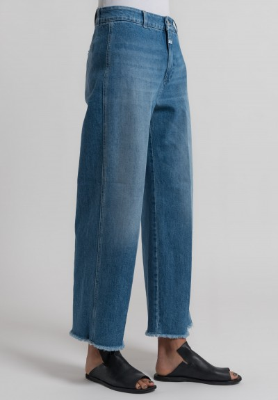 Closed Cropped Mina Jeans in Worn Down Blue