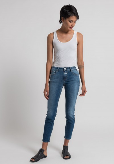 Closed Baker Cropped Narrow Jeans in Summer Mid Blue