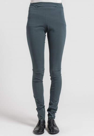 Urban Zen Stretch Canvas Signature Skinny Pants in Smokey Teal