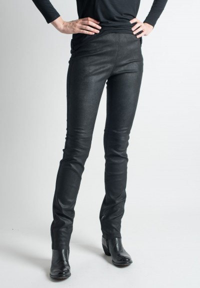 Ventcouvert Stretch Leather Leggings in Black